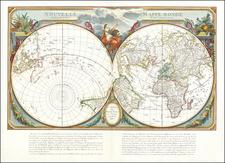 World, Northern Hemisphere and Southern Hemisphere Map By Paolo Santini