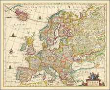 Europe Map By Clement de Jonghe