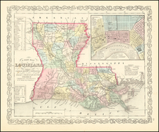 Louisiana and New Orleans Map By Charles Desilver