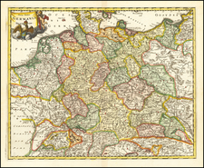 Germany and Poland Map By Philipp Clüver