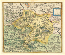 Germany Map By Abraham Ortelius