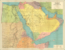 Middle East and Arabian Peninsula Map By George Philip & Son