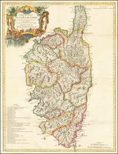 Corsica Map By Didier Robert de Vaugondy