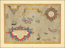 Atlantic Ocean and Portugal Map By Abraham Ortelius