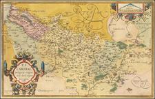 Nord et Nord-Est Map By Abraham Ortelius