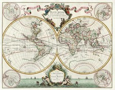 World, World and Polar Maps Map By Pieter Mortier