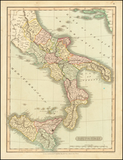 Italy, Southern Italy and Sicily Map By Charles Smith