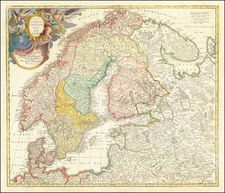Scandinavia Map By Johann Baptist Homann