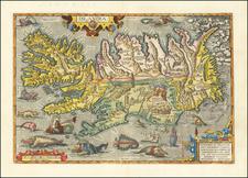 Islandia By Abraham Ortelius