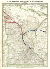 Minnesota Map By George F. Cram / Henry S. Stebbins