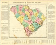 South Carolina Map By Henry Charles Carey  &  Isaac Lea
