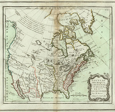United States, Southwest and North America Map By Louis Brion de la Tour