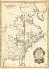 North America Map By Rigobert Bonne