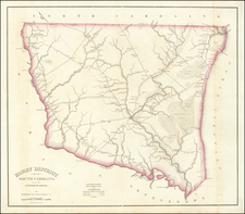 South Carolina Map By Robert Mills