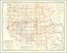 United States, Texas, Plains, Southwest, Rocky Mountains, Pacific Northwest and California Map By U.S. Engineers / Louis Nell