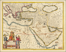 Turkey, Middle East and Turkey & Asia Minor Map By Jan Jansson
