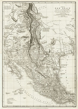 Texas, Southwest, Rocky Mountains and Mexico Map By Alexander Von Humboldt