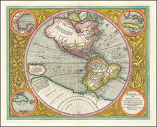 Western Hemisphere and America Map By Michael Mercator