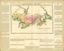 Midwest, Canada and Eastern Canada Map By Henry Charles Carey  &  Isaac Lea