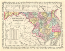 Maryland and Delaware Map By Charles Desilver