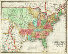 United States Map By John Melish
