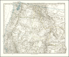 Nevada, Idaho, Montana, Utah, Wyoming, Oregon and Washington Map By Adolf Stieler