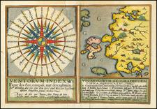 [Compass Rose &c]  Ventorum Index (and) Vocabulorum Geographicorum By Matthias Quad