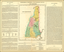 New Hampshire Map By Henry Charles Carey  &  Isaac Lea