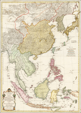China, Japan, Korea, Philippines, Indonesia and Malaysia Map By Franz Anton Schraembl