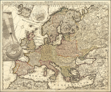 Europe and Celestial Maps Map By Peter Schenk
