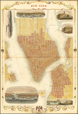 New York City and Mid-Atlantic Map By John Tallis