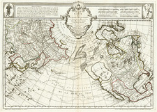 Alaska and North America Map By Philippe Buache / Joseph Nicholas De  L'Isle