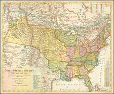 United States Map By F.W. Streit