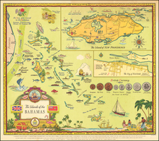 Caribbean and Pictorial Maps Map By George Annand
