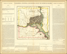 Washington, D.C. Map By Henry Charles Carey  &  Isaac Lea
