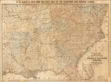 United States and Civil War Map By H.H. Lloyd