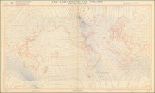 World and World War II Map By U.S. Hydrographical Office