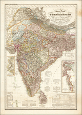 India Map By Heinrich Berghaus