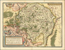 Luxembourg Map By Abraham Ortelius