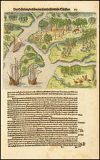 Southeast and South Carolina Map By Theodor De Bry