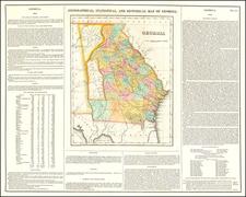 Georgia Map By Henry Charles Carey  &  Isaac Lea