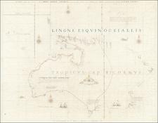Australia, Oceania and New Zealand Map By Gerard Hulst Van Keulen
