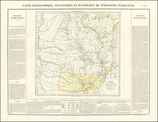 Arkansas, Texas, Midwest, Plains, Southwest and Rocky Mountains Map By Jean Alexandre Buchon