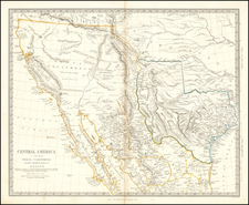 Central America II. Including Texas, California and the Northern States of Mexico By SDUK