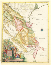 Russia and Central Asia & Caucasus Map By Joseph Nicholas de L'Isle