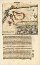 Peru & Ecuador Map By Theodor De Bry / Matthaus Merian