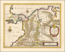 Colombia Map By Willem Janszoon Blaeu