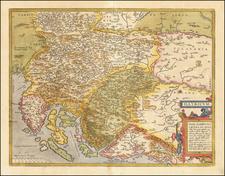 Illyricum By Abraham Ortelius