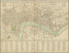 London Map By John Cary  &  John Wallis