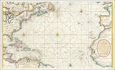 Atlantic Ocean, United States, New England, Mid-Atlantic, Southeast, North America, Canada and Caribbean Map By Gerard Van Keulen